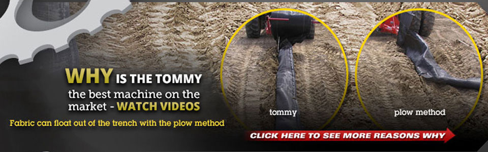 tommy™ silt fence machine